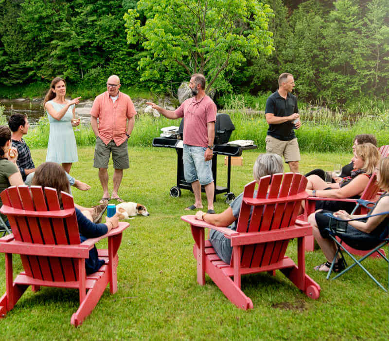 backyard bbq with friends