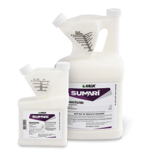 Sumari System – insecticide product bottle shown with purple label