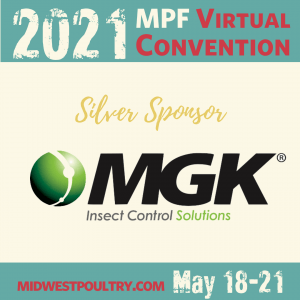 2021 MPF Virtual Convention - MGK Insect Control Solutions Silver Sponsor - May 18-21, midwestpoultry.com