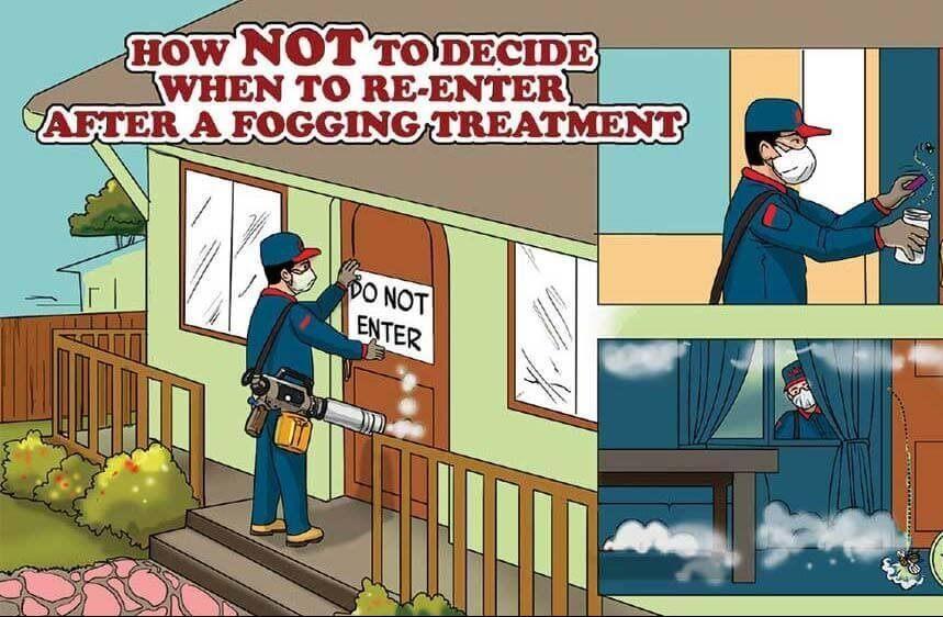 When to enter after fogging blog post