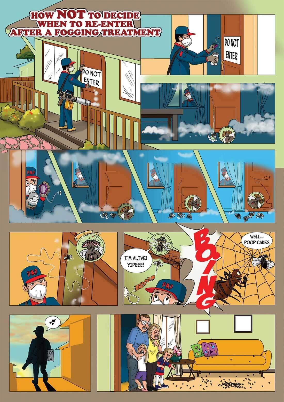 Enter After Fogging Cartoon
