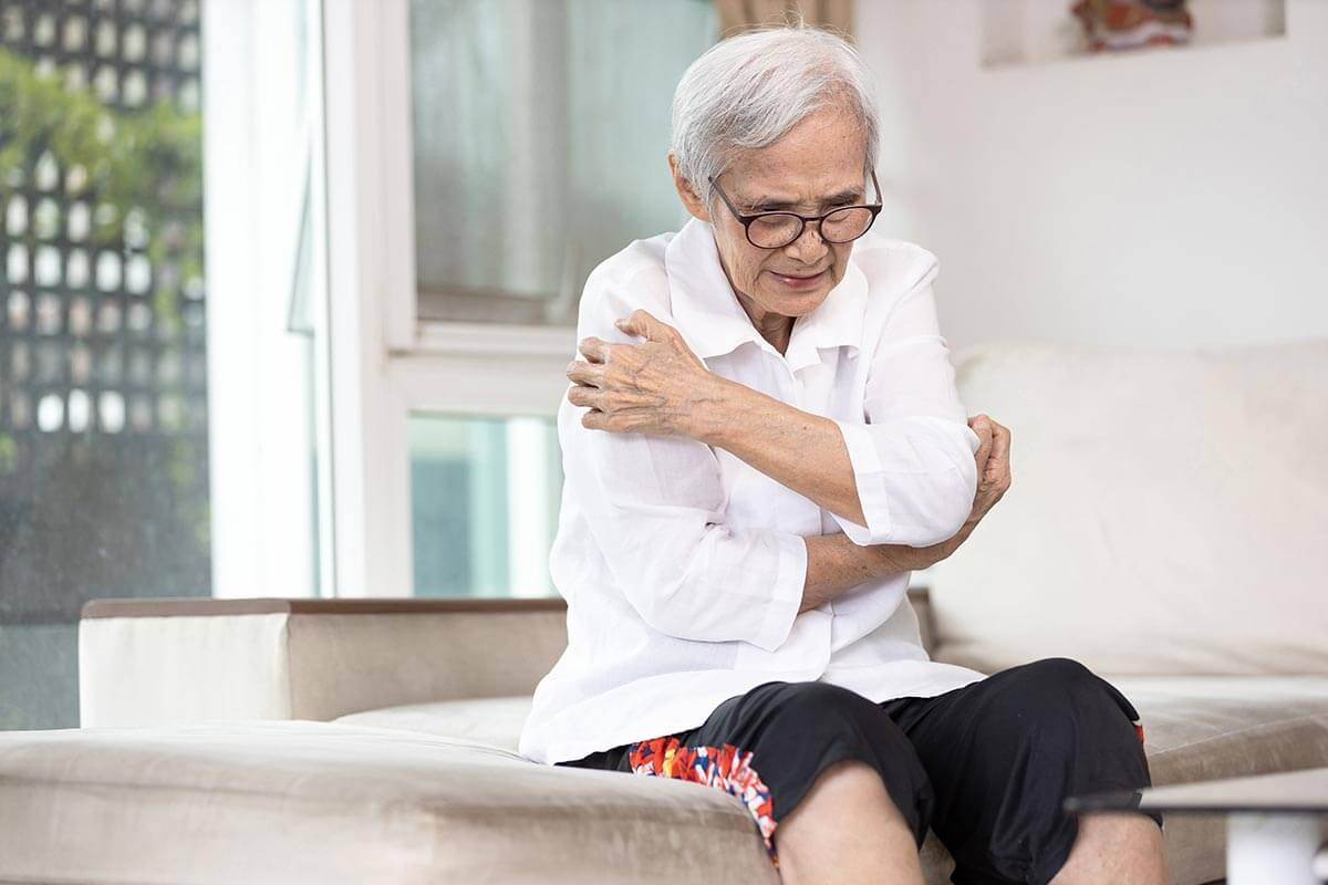 Delusory Parasitosis Blog - Elderly woman scratching her arms