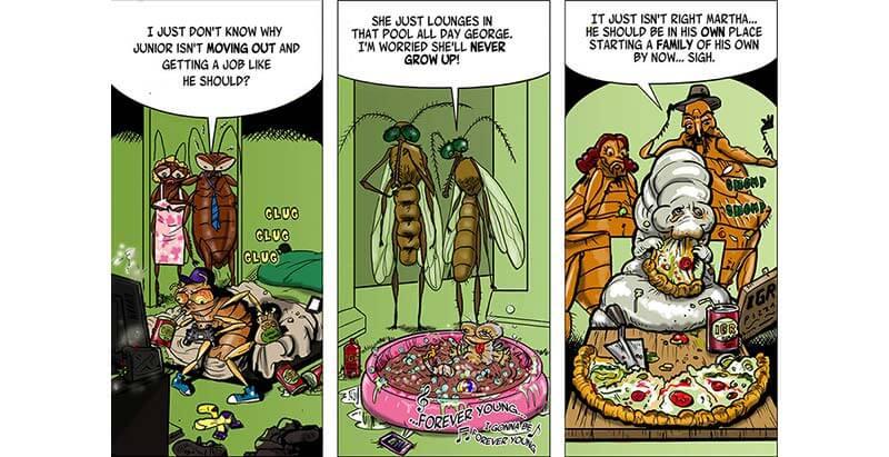 IGR Cartoon: Cockroaches